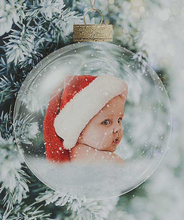 Christmas baby Globe