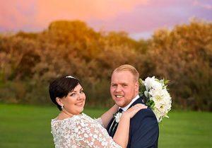 wedding-sunset-portrait in Wirral