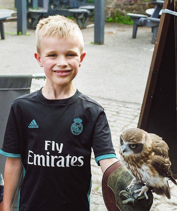 boy with an owl