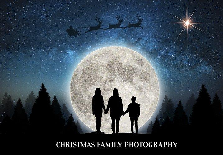 christmas Silhouette backdrops