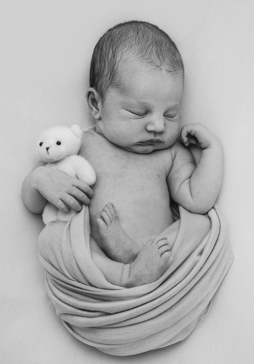 newborn and teddy
