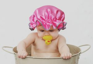 one year old with a rubber duck 300x209 - My Blog