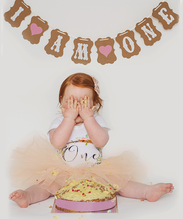 one year old girl - Cake Smash In Northwich