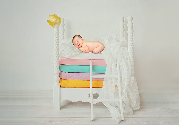 Newborn Princess and pea  - Home